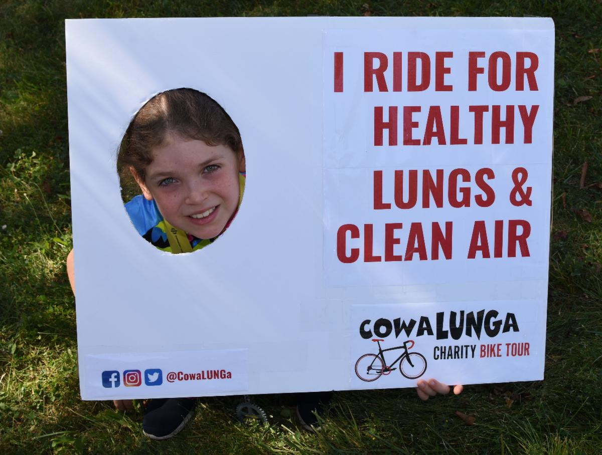 Lauren Rode at the 2019 CowaLUNGa Charity Bike Ride