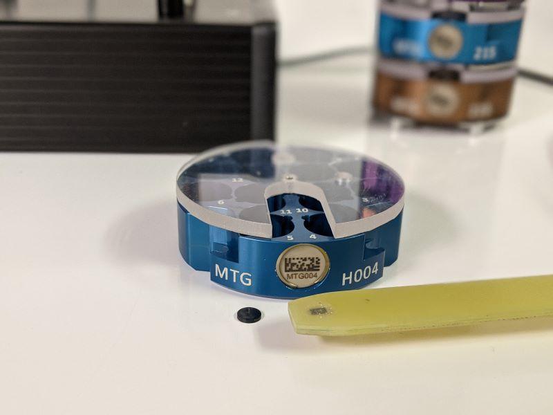 Cryogenic RFID Sample Tracking System Closeup