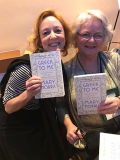 Catherine and author Mary Norris