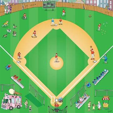 Baseball mat for use with Bee-Bot