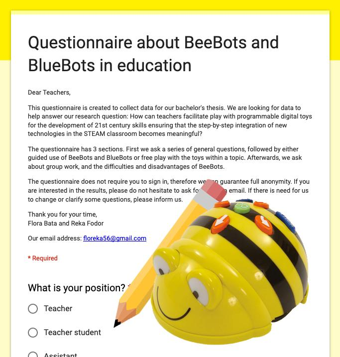Research questionnare about Bee-Bot