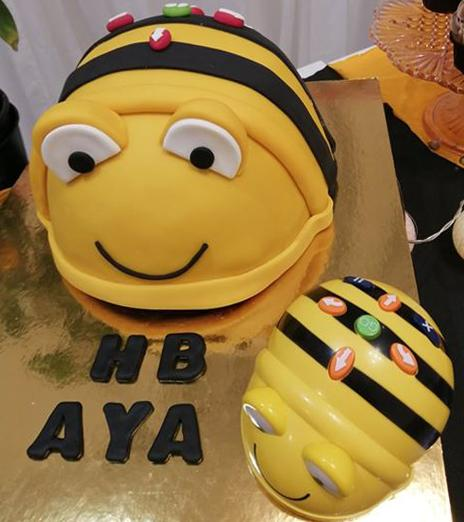 Bee-Bot birthday cake