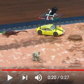 Pro-Bot as Mars rover at NASA