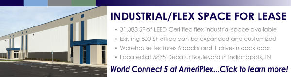 Industrial space for lease at World Connect 5 in Indianapolis