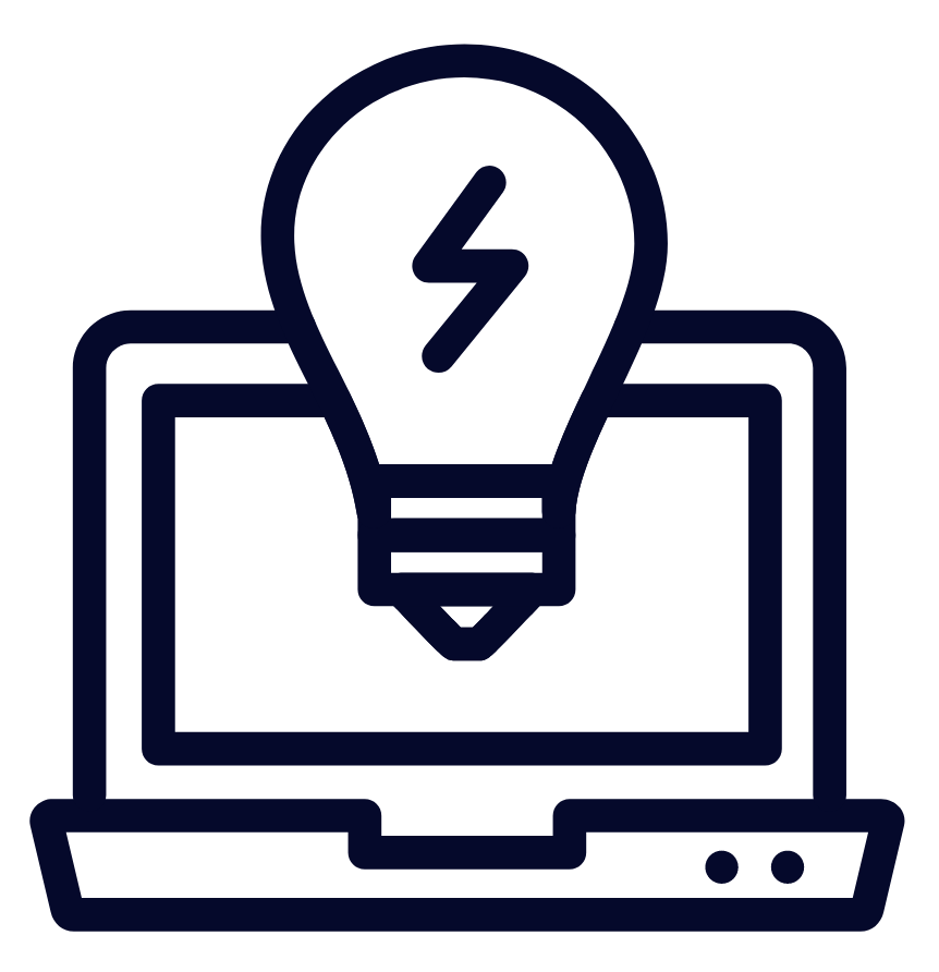 Image of laptop with lightbulb