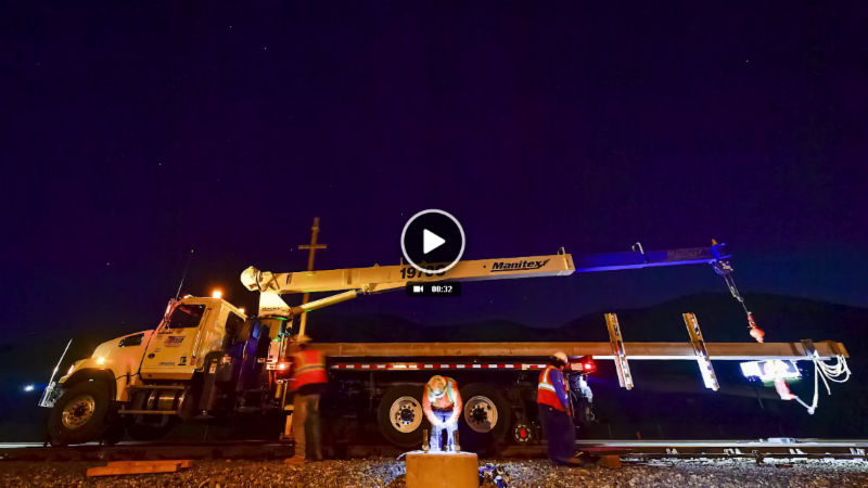 Caltrain Electrification_ Pole Installation Time-Lapse Video