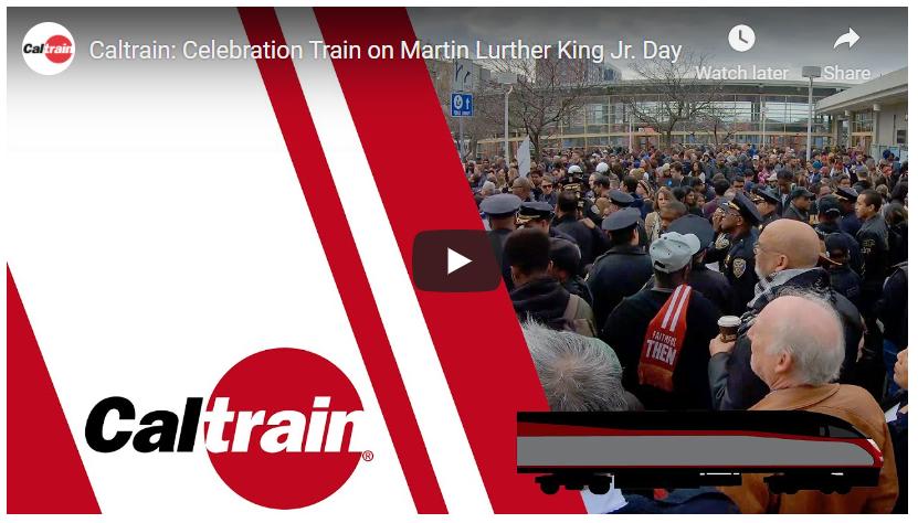 Video of Caltrain Celebration Train