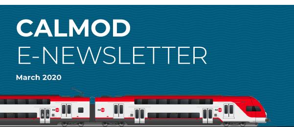 CalMod E-newsletter banner for March 2020