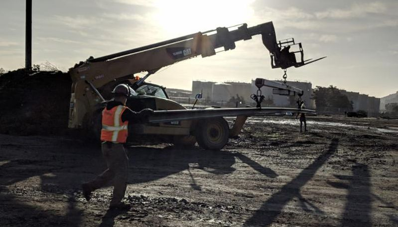 Construction equipment and crew