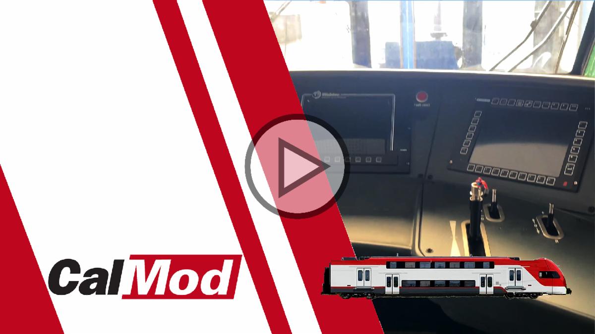 Video of EMU interior including cab car and exterior