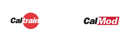 Caltrain and CalMod Logos