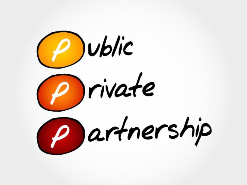PPP - Public-private partnership acronym business concept