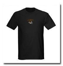 Our Kishu logo on a cool black t-shirt