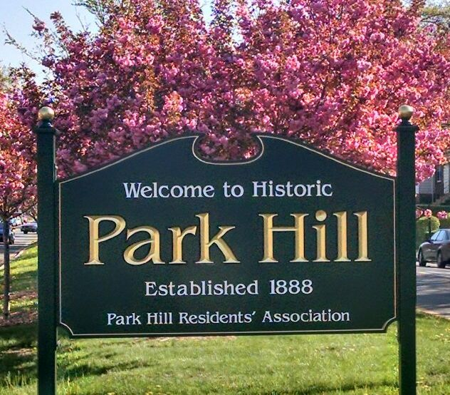 park hill sign cherry