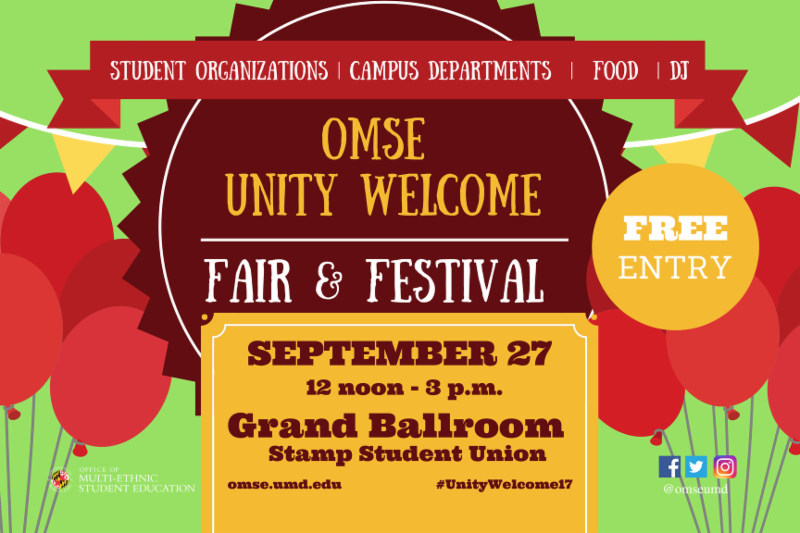 Attend Tomorrow's Unity Welcome Fair & Festival! Get Help