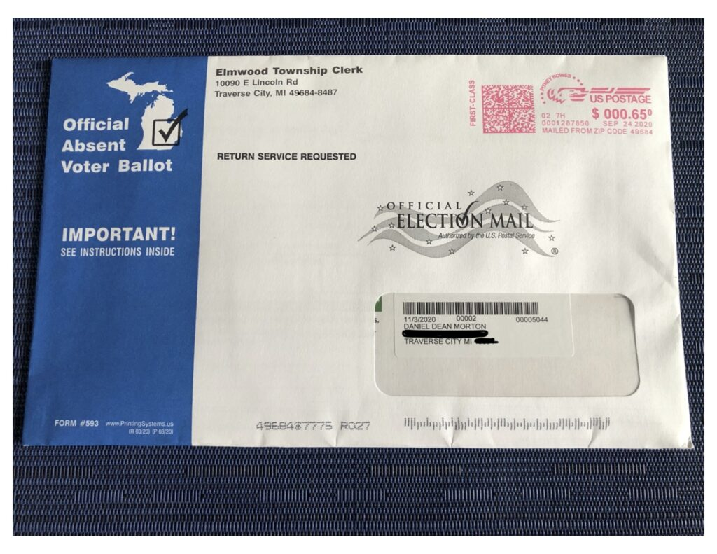 Colleen Morton Busch's dad's mail-in ballot