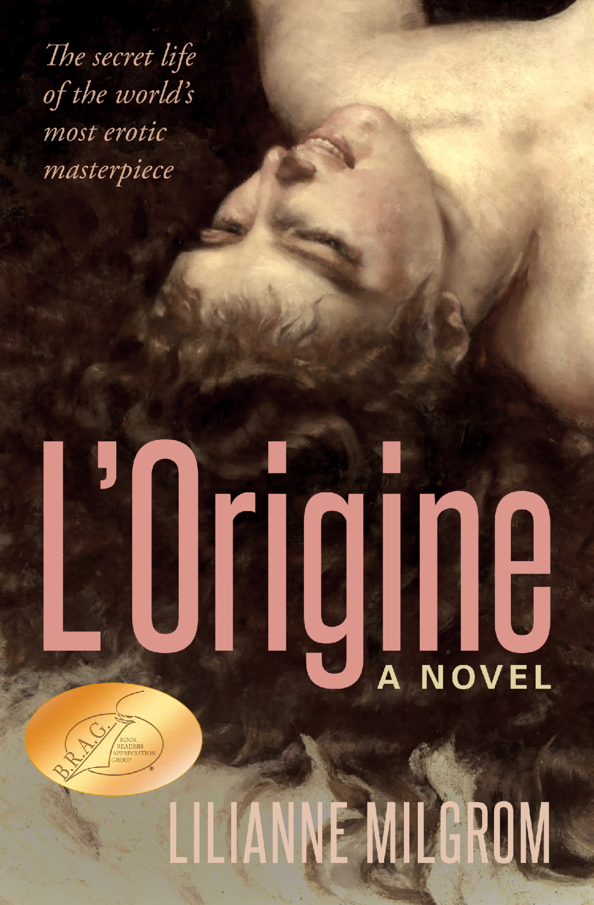 Book cover of L'Origine a novel by Lilianne Milgrom with a BRAG (Book Readers Association Group) medallion