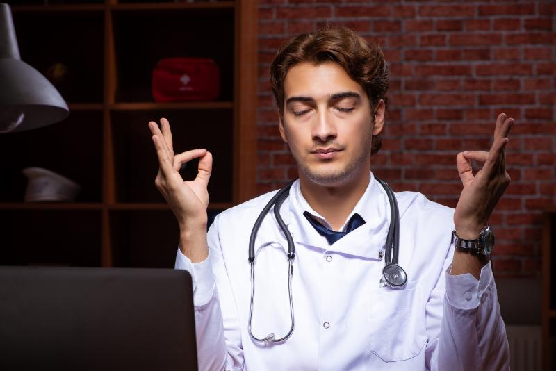 doctor meditating