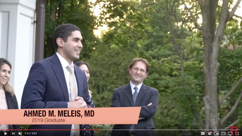 Neurosurgery residency graduation video snapshot