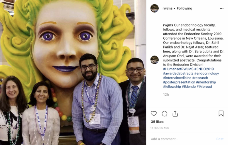 Instagram screenshot_Endocrinology Conference