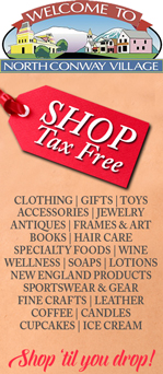 Shop tax free in North Conway Village