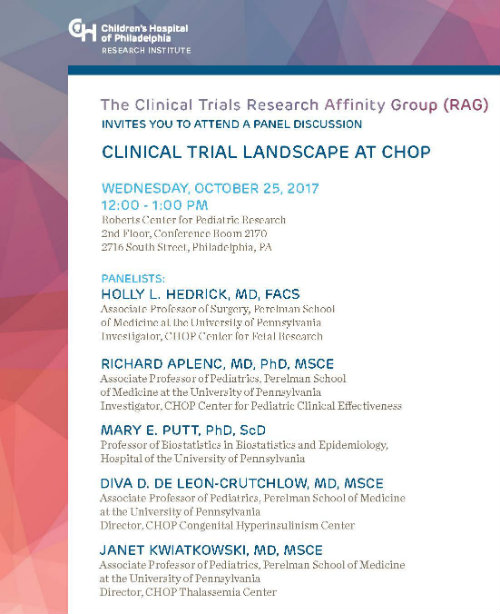 CPCE E-News: Clinical Trials Research Affinity Group
