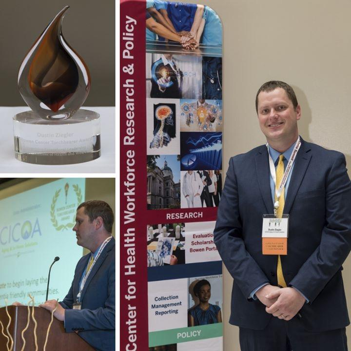 Dustin Ziegler of CICOA received the 2019 Bowen Center Torchbearer award