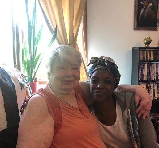 caregiver and senior client