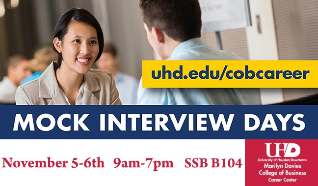 Mock Interview Days November 5-6 from 9am-7pm