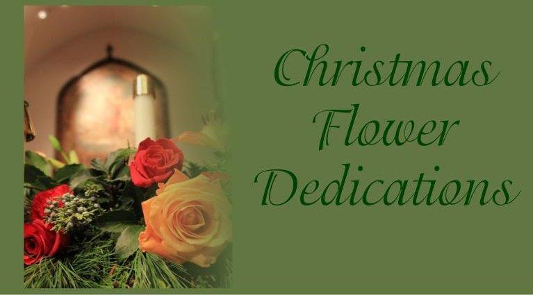 Christmas Flower Dedications