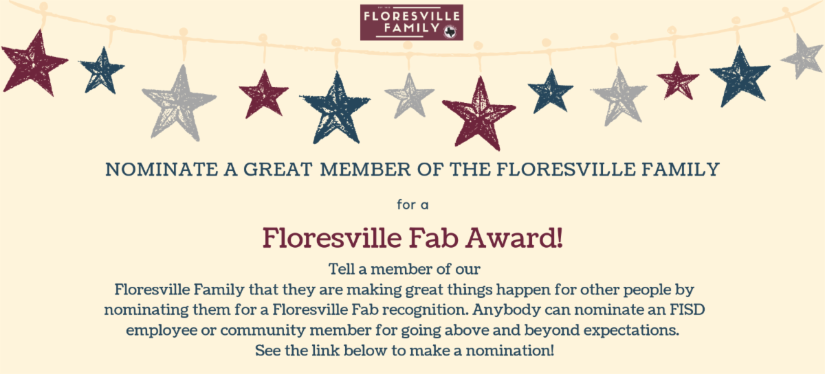 Advertisement for the Floresville Fab Award
