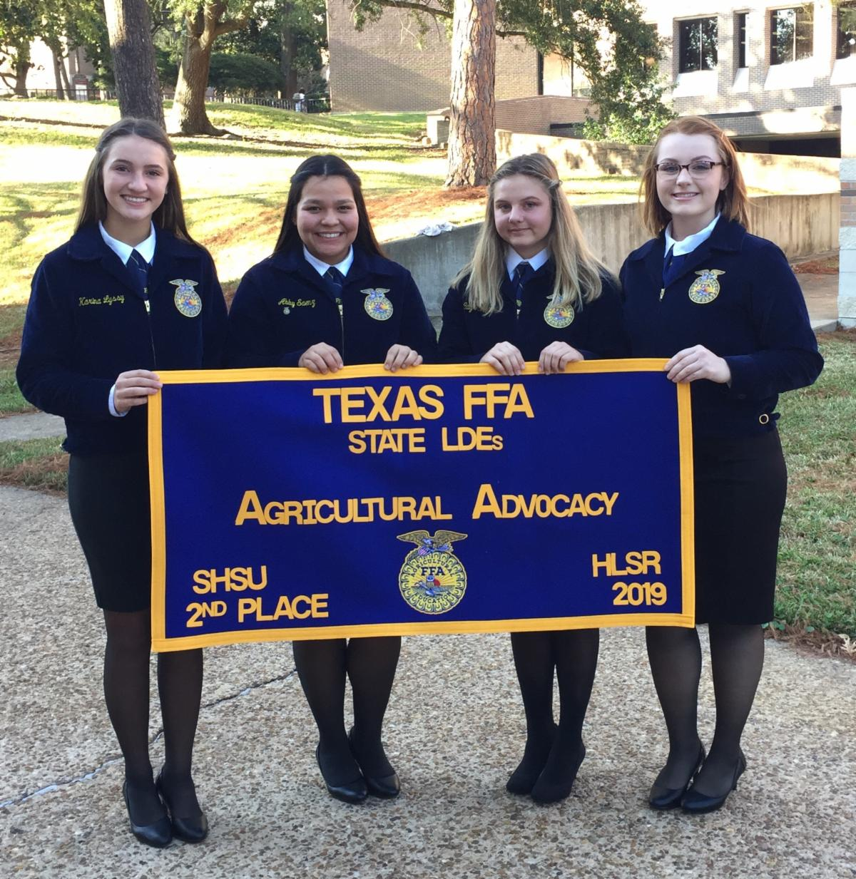 Ag Advocacy Team holding 2nd place banner