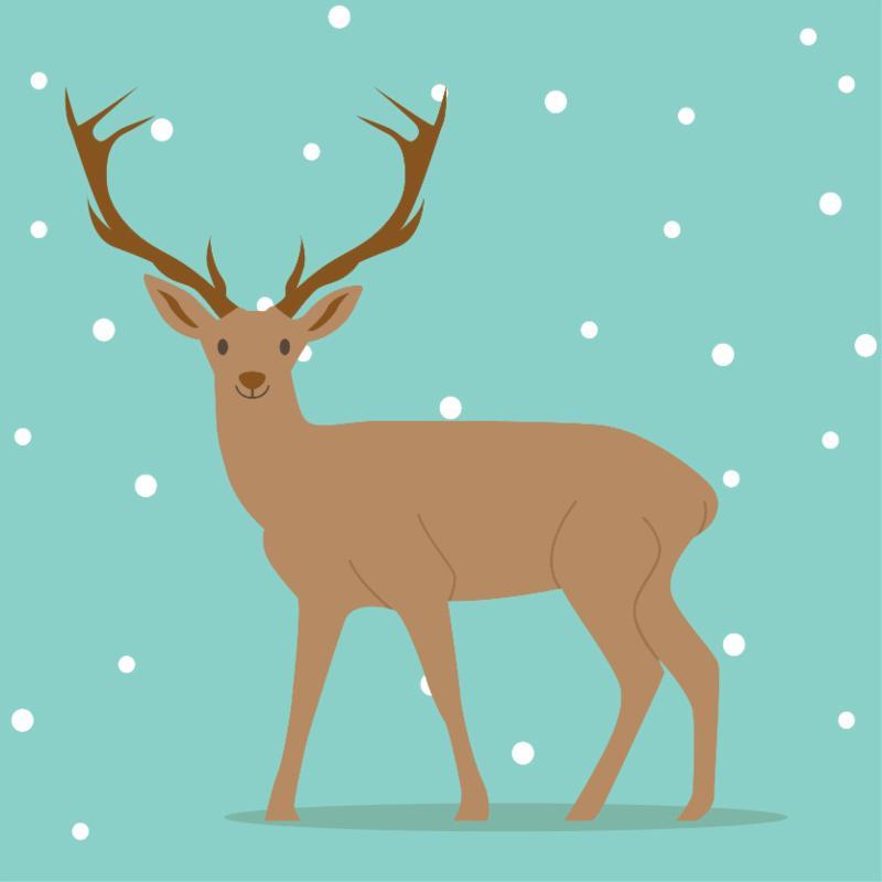 graphic of deer