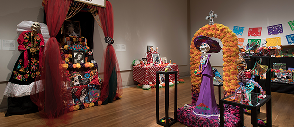 An array of Ofrenda displays from a previous year's exhibition.