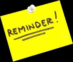 Reminder post it note