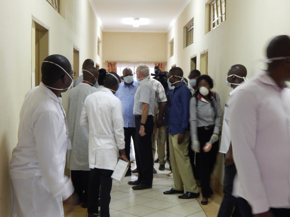 Delegation inside our hospital
