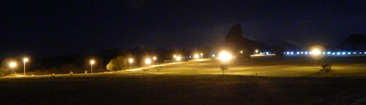 Public illumination at Quinta Graca at night