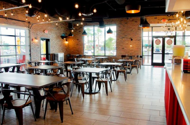 Photo of the indoor dining at Backyard Taco at Stapley & US-60.