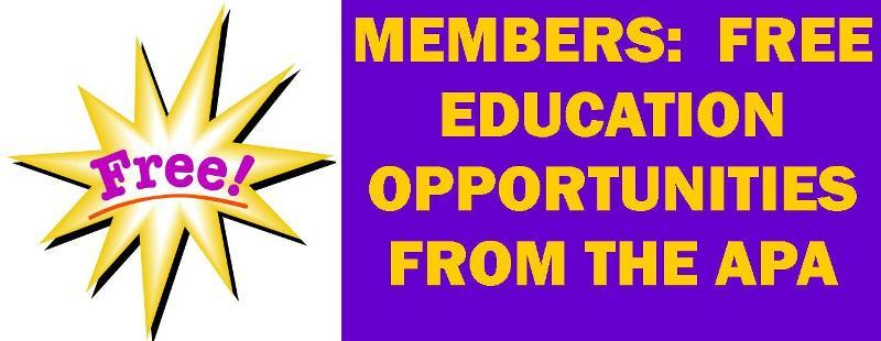 APA free education highlight