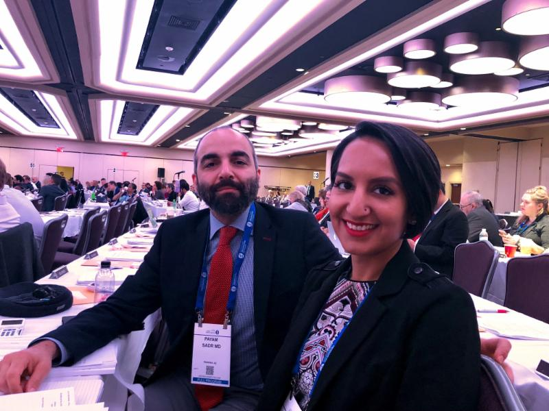 Dr. Sadr and Dr. Chhatwal at APA Annual Meeting NYC 2018