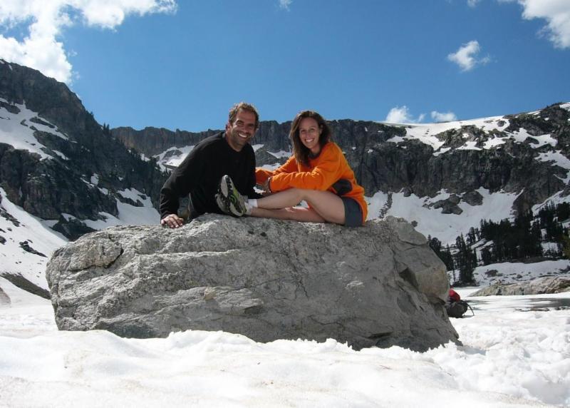 Dr. Steven Pitt and Natalie Collins JD at Solitude Lake