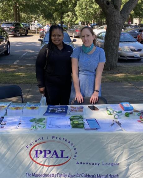 PPAL's Dawn Christie and Robin Richardson at the Harvard Street Fair