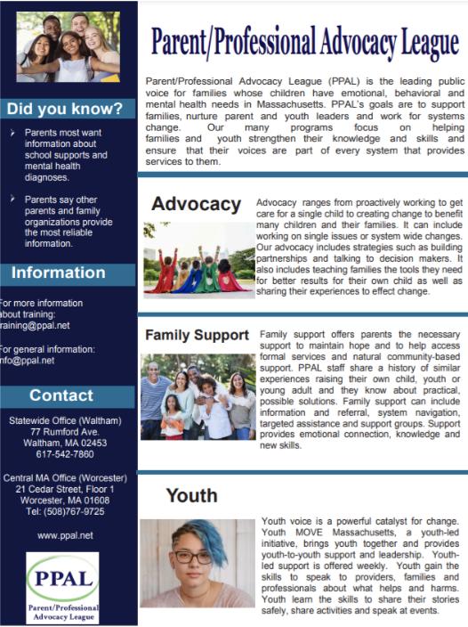 PPAL's New Program Sheet