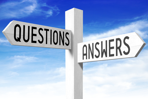 Questions_ answers - wooden signpost