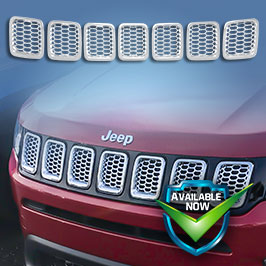 GI478 CCI Grille Overlays 17-19 Jeep Compass * Attaches via 3M Tape