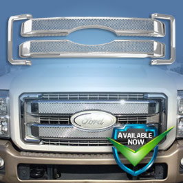GI413 CCI Grille Overlays  11-16 Ford F-250/350/450 Super Duty * Attaches via 3M Tape