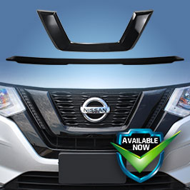GI491BLK CCI Grille Overlays  18-19 Nissan Rogue * Attaches via 3M Tape