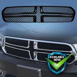 GI435 (Chrome) GI435BLK (Black) CCI Grille Overlays  14-19 Dodge Durango * Attaches via 3M Tape