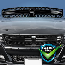 GI426 (Chrome) GI426BLK (Black) CCI Grille Overlays  15-19 Dodge Charger * Attaches via 3M Tape
