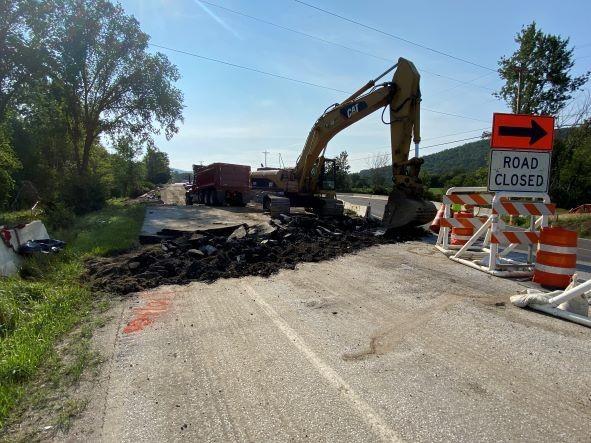 Berkshire roadway abutment